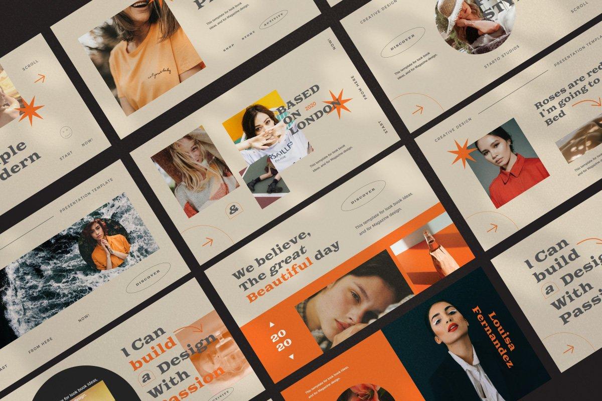 时尚创意服装潮牌品牌提案简报演示文稿设计模板 Start – Creative Agency Powerpoint插图8