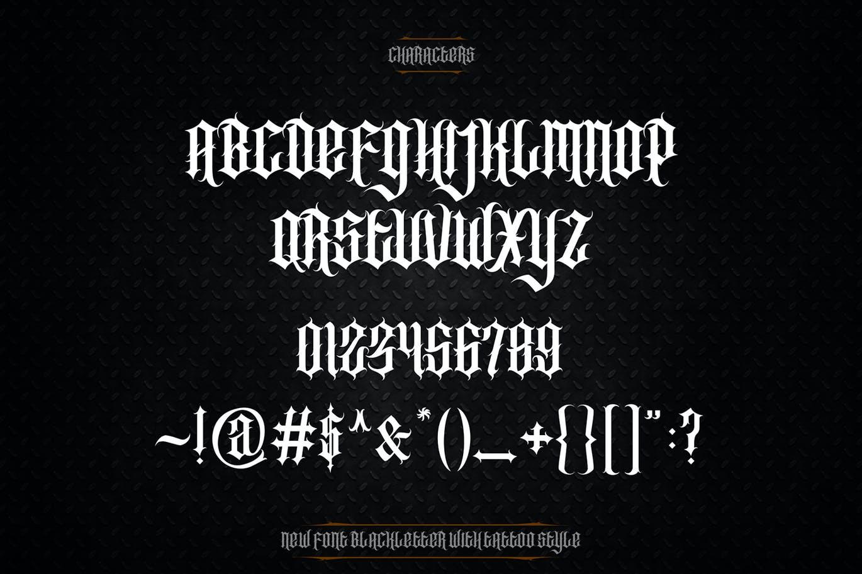时尚复古哥特式品牌纹身徽标Logo装饰英文字体 Southside Extra Bonus插图8