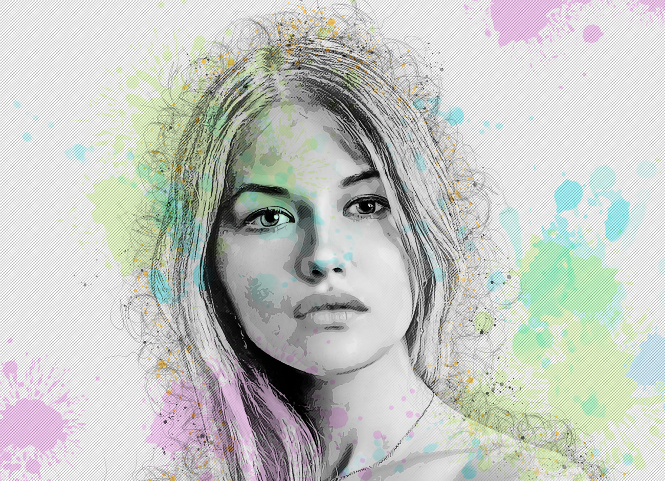 抽象铅笔素描效果照片处理特效PS动作模板 Abstract Sketch Photoshop Action插图9
