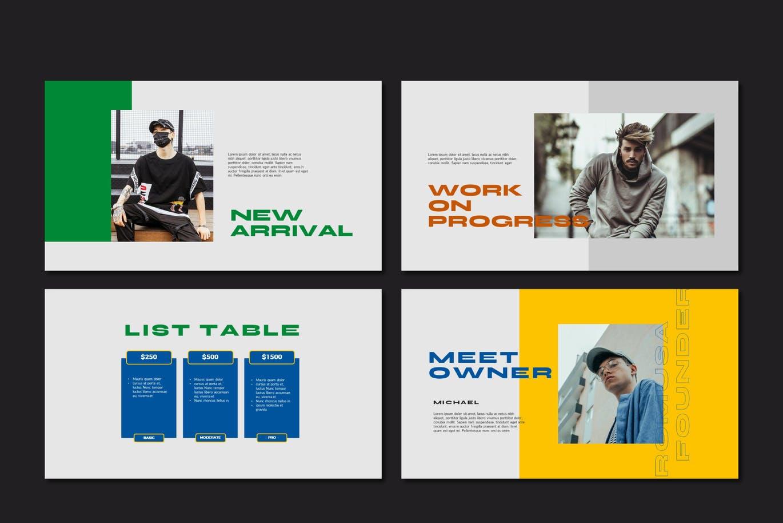 简约人像风景摄影作品集排版设计演示文稿模板 Romusa Powerpoint Template插图5