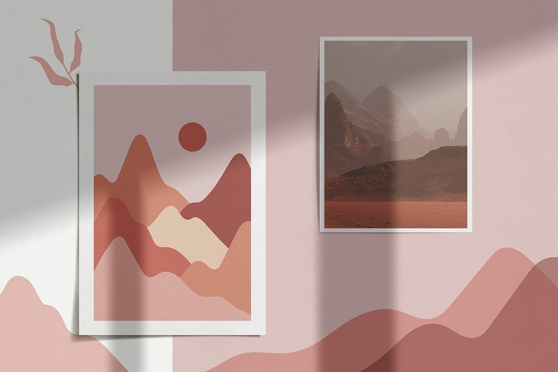 [单独购买] 150个抽象山丘建筑几何图案矢量设计素材 DUNE Abstractions & Prints插图8