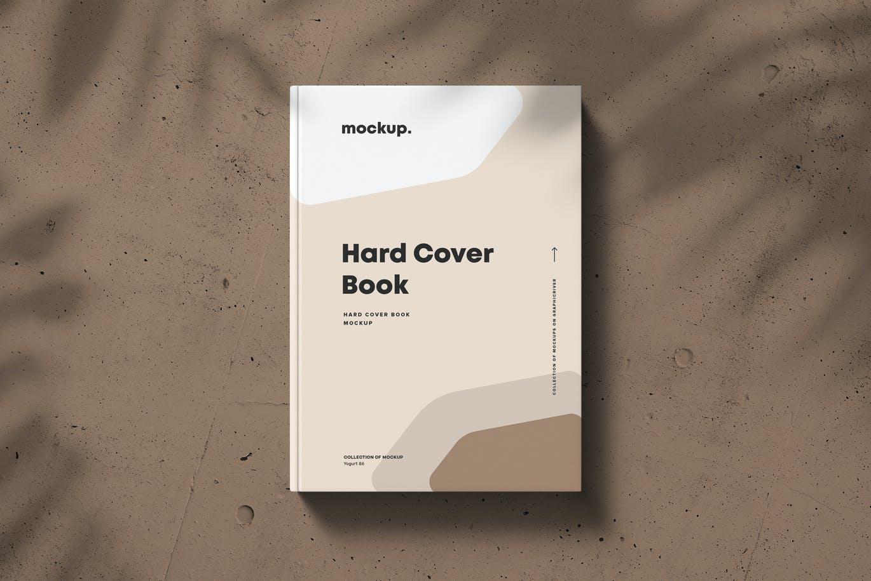 8款精装书封面设计展示贴图样机模板素材 Hard Cover Book Mock-up插图3