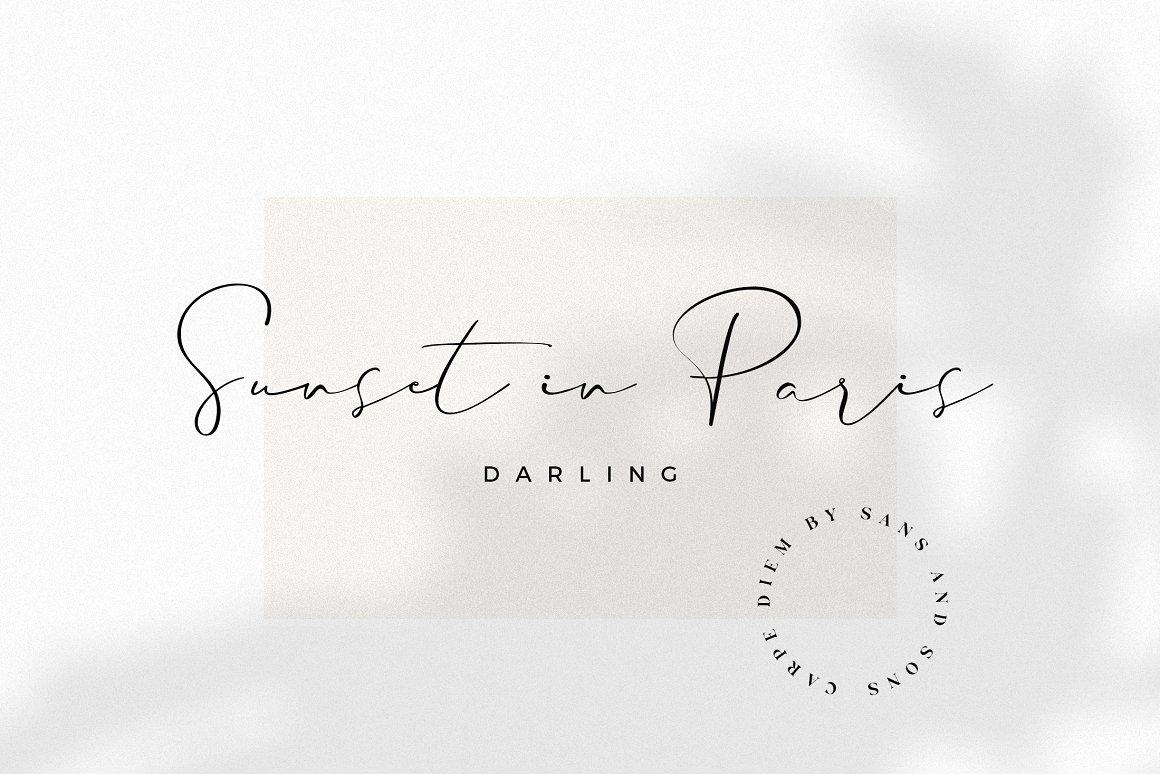 现代奢华海报标题品牌徽标Logo设计衬线英文字体素材 Carphe – Modern Luxury Font插图8