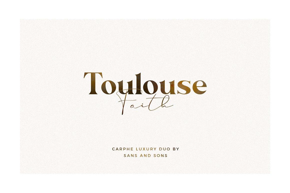 现代奢华海报标题品牌徽标Logo设计衬线英文字体素材 Carphe – Modern Luxury Font插图9