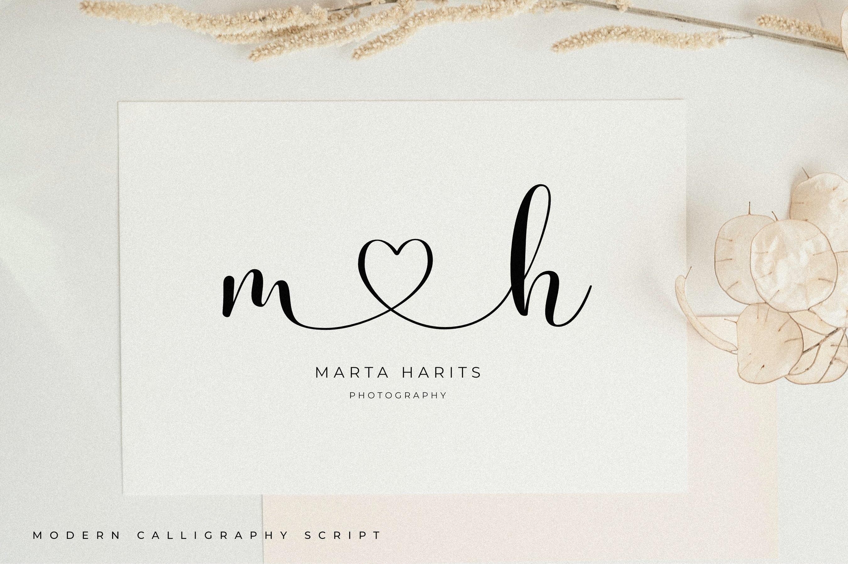 时尚优雅海报标题品牌Logo设计手写英文字体素材 Olivia James – Chic Font插图4