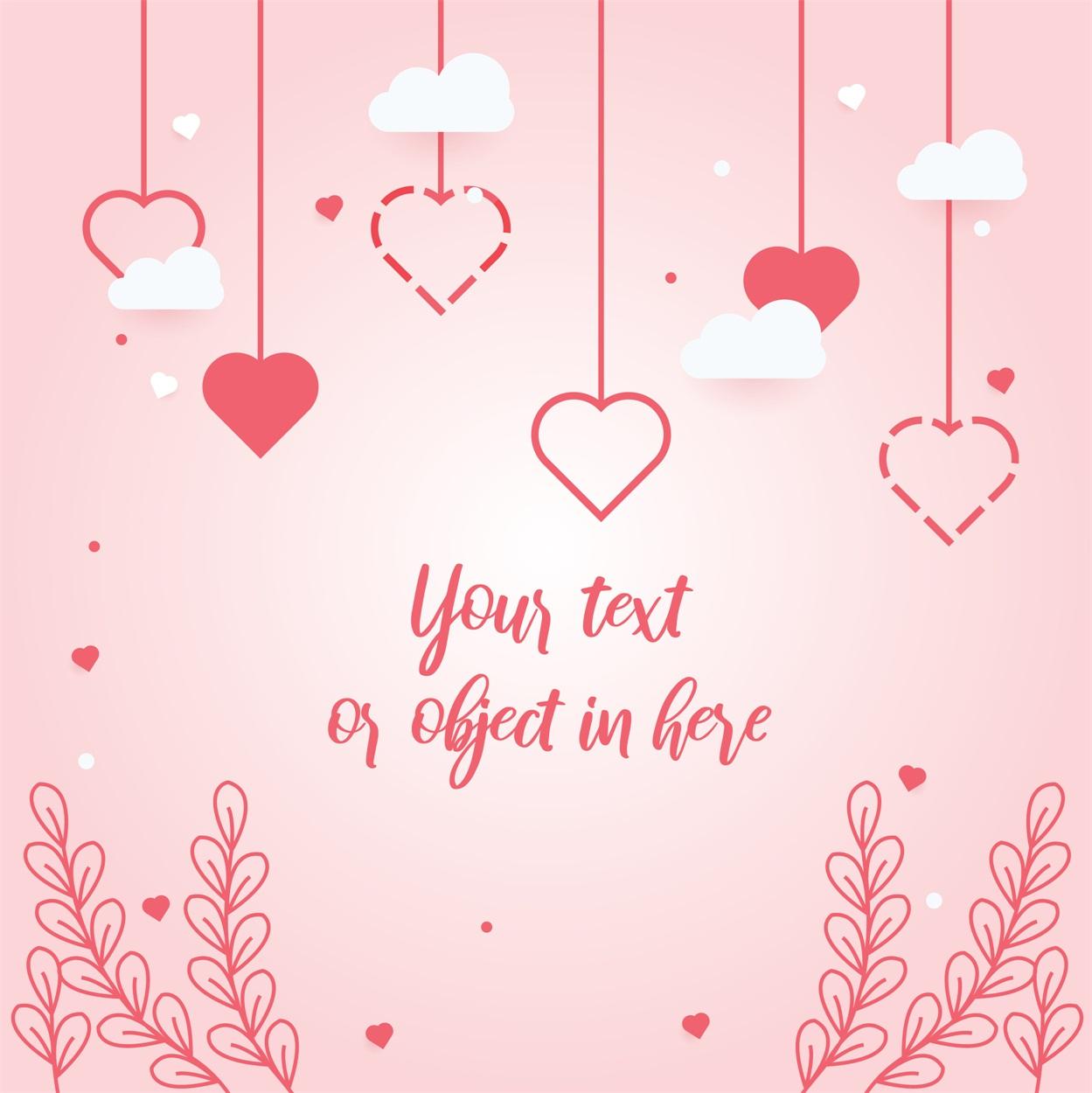 22款情人节七夕节购物促销海报传单设计AI矢量素材 Valentines day Poster Vector Material插图2