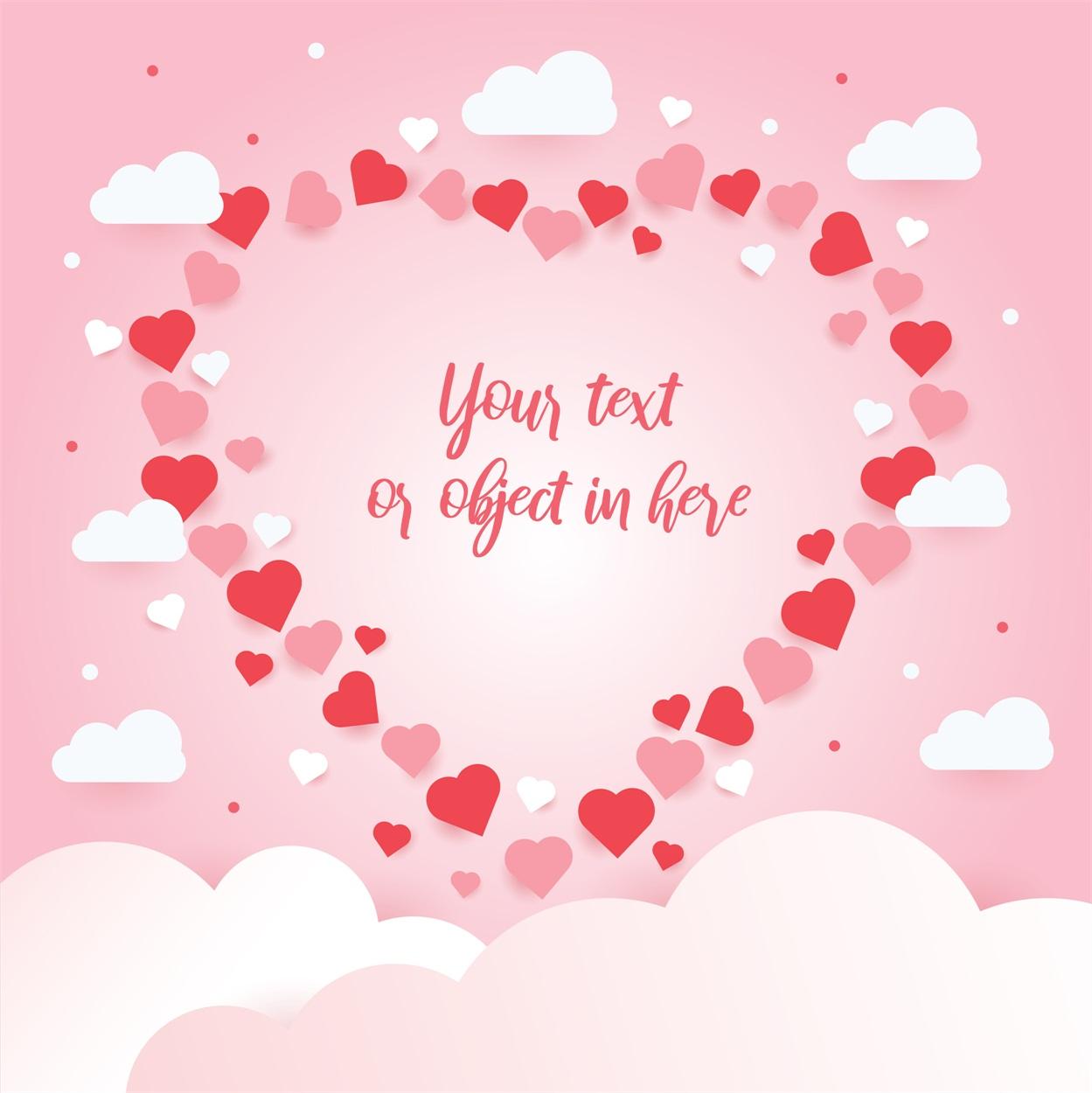 22款情人节七夕节购物促销海报传单设计AI矢量素材 Valentines day Poster Vector Material插图3