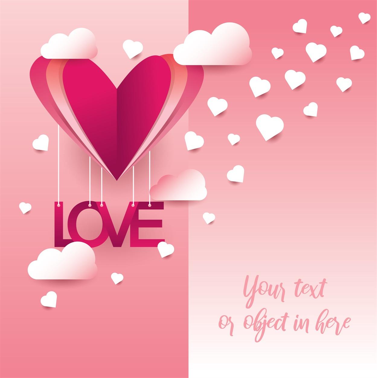 22款情人节七夕节购物促销海报传单设计AI矢量素材 Valentines day Poster Vector Material插图5