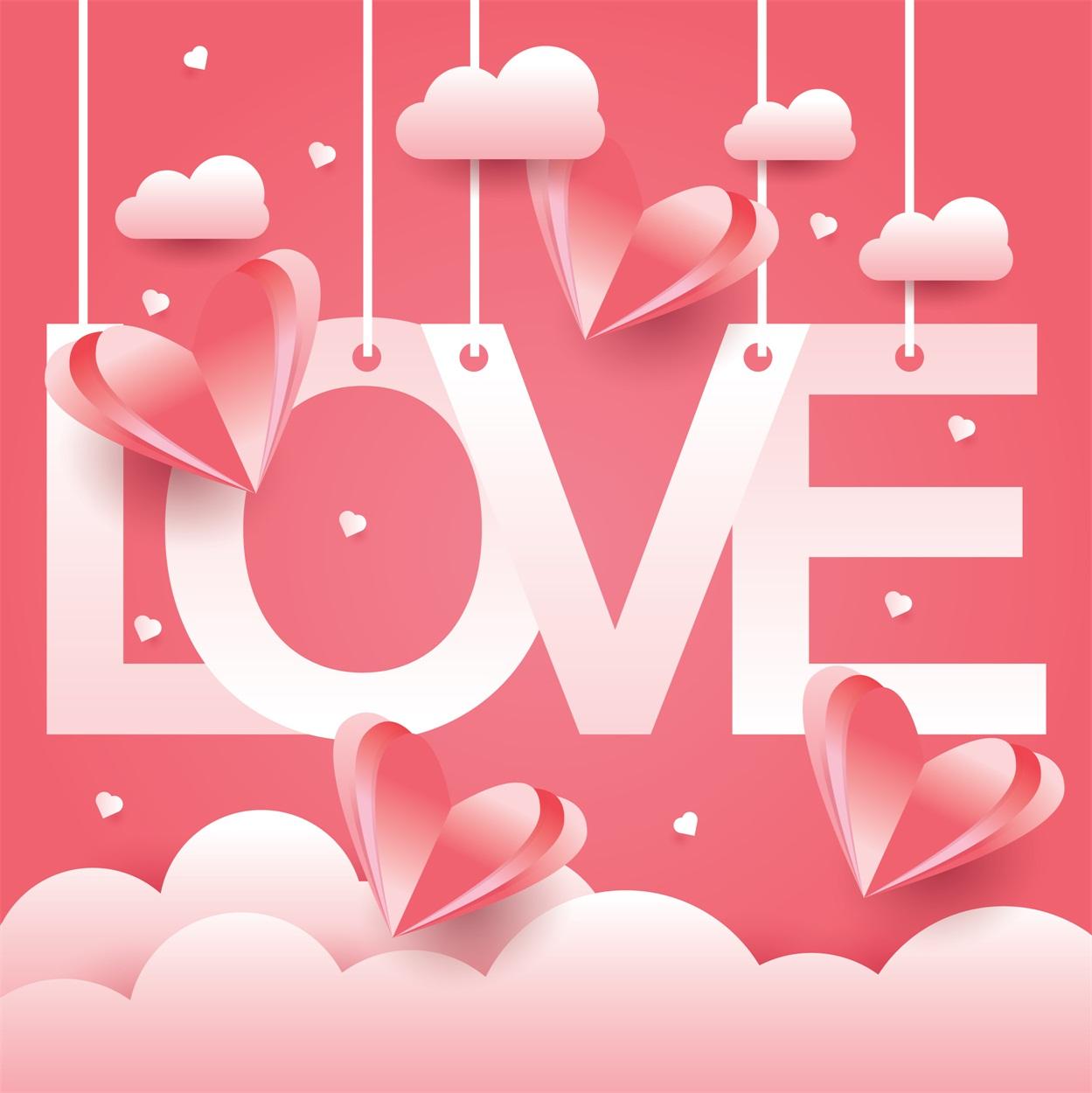 22款情人节七夕节购物促销海报传单设计AI矢量素材 Valentines day Poster Vector Material插图6