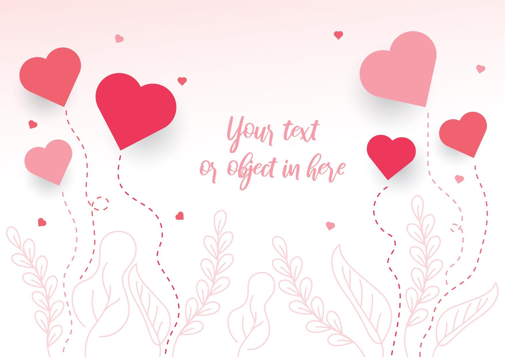 22款情人节七夕节购物促销海报传单设计AI矢量素材 Valentines day Poster Vector Material插图7