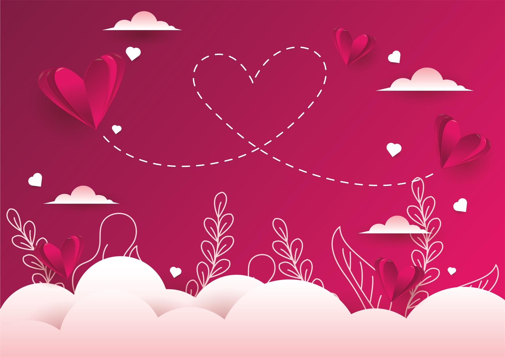 22款情人节七夕节购物促销海报传单设计AI矢量素材 Valentines day Poster Vector Material插图15
