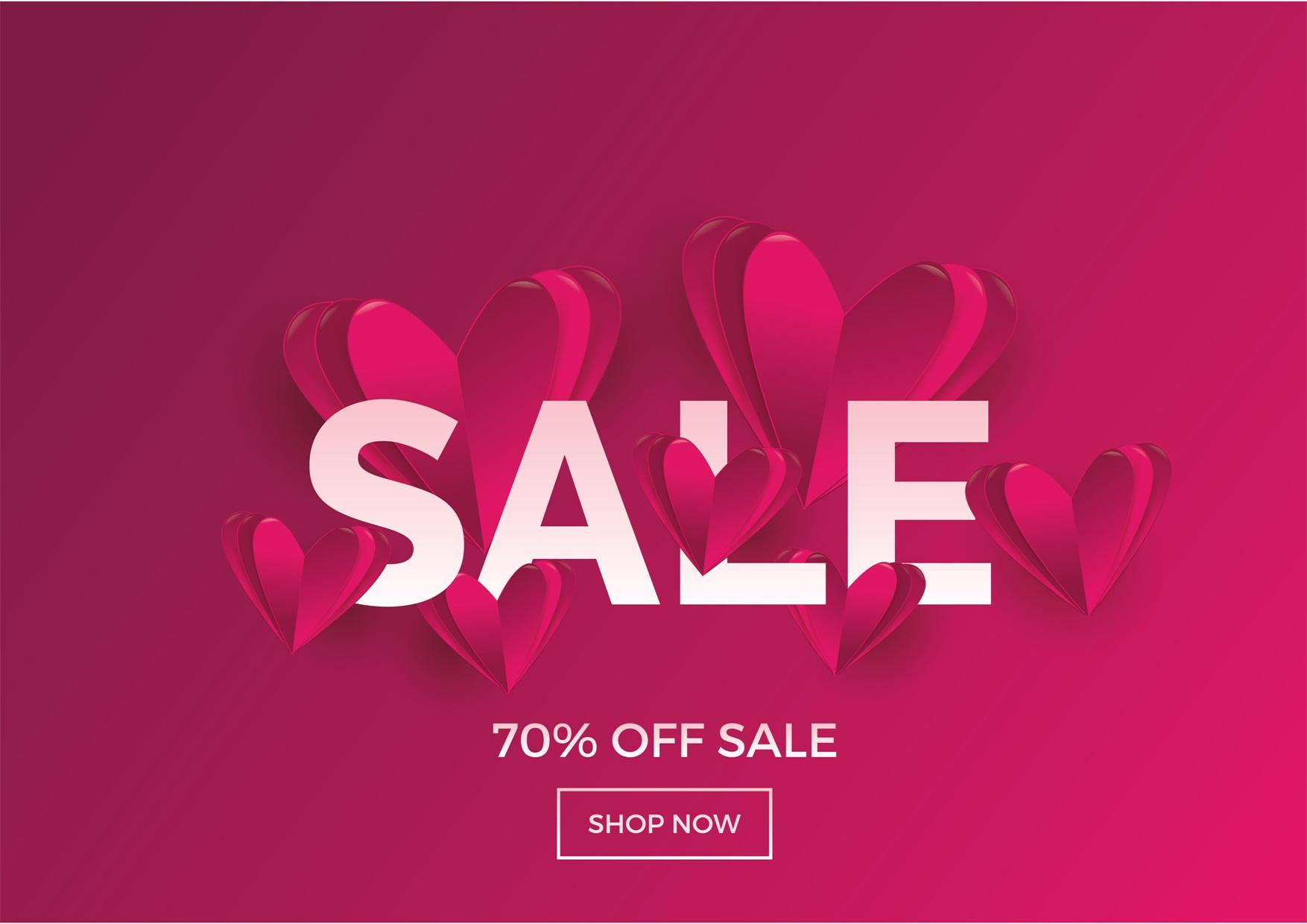 22款情人节七夕节购物促销海报传单设计AI矢量素材 Valentines day Poster Vector Material插图