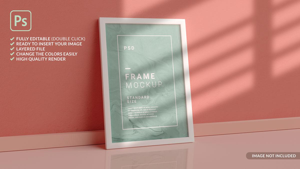 11款方形海报艺术品相片展示相框样机模板 Square Photo Frame Mockup插图