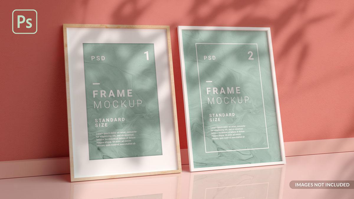 11款方形海报艺术品相片展示相框样机模板 Square Photo Frame Mockup插图4