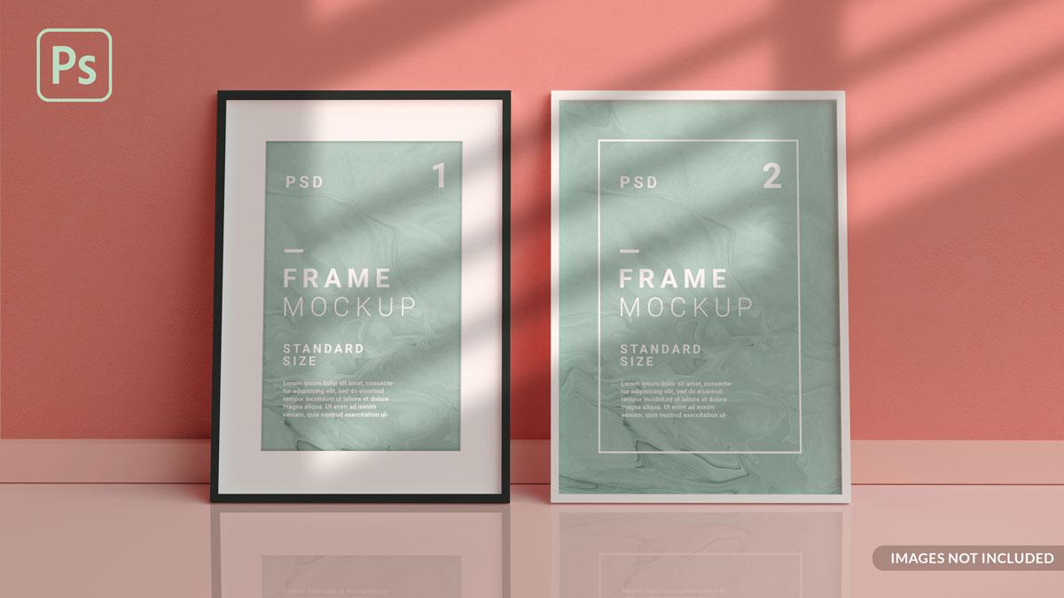 11款方形海报艺术品相片展示相框样机模板 Square Photo Frame Mockup插图5