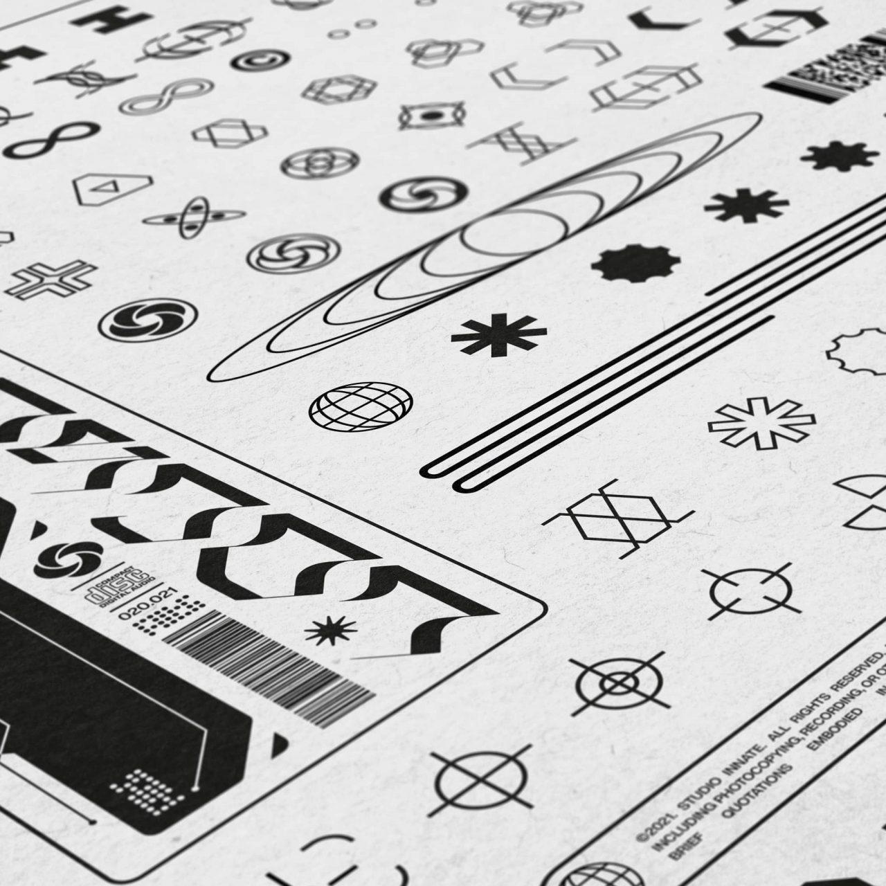 [单独购买] 230款时尚潮流现代艺术几何赛博朋克Logo图形AI矢量设计素材 Studio Innate – Lockup Vector Pack Vol.2插图3