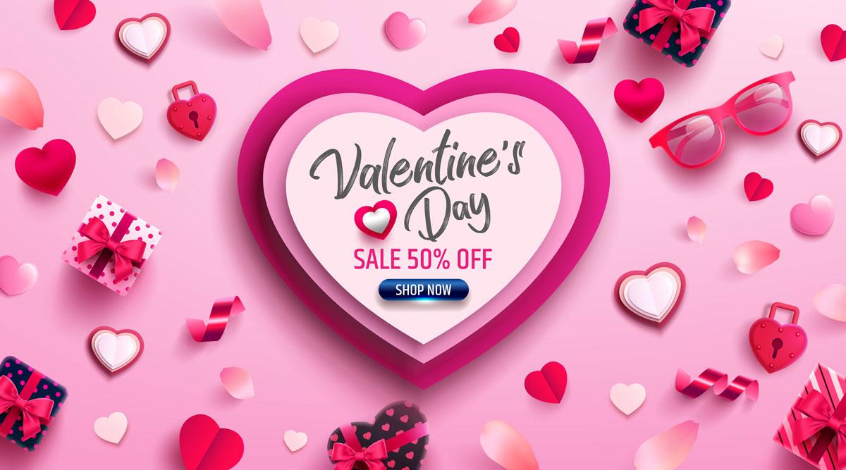 16款七夕节情人节爱心心形公益慈善海报传单AI设计素材 Valentines Day Love Promotion Poster插图15