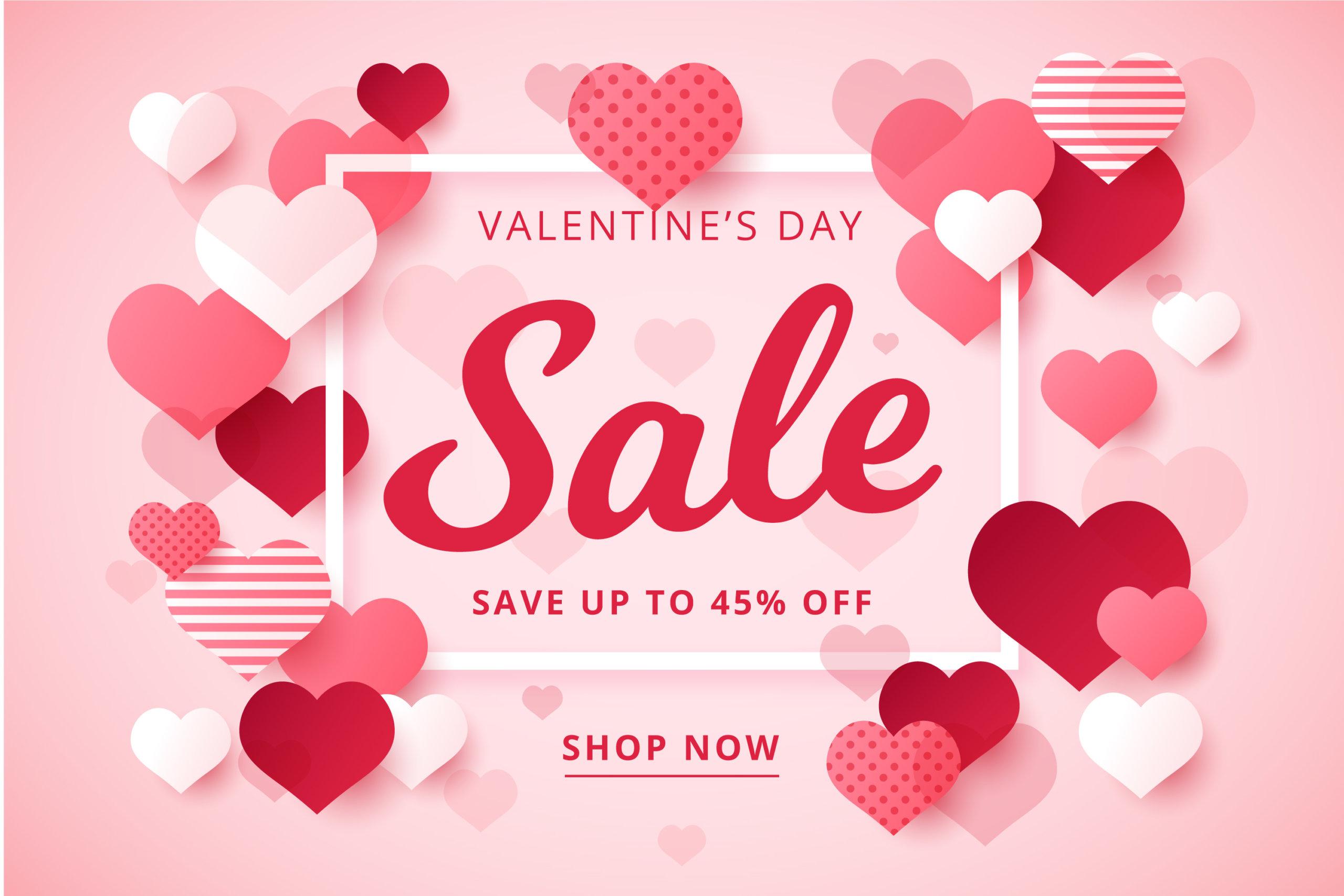 16款七夕节情人节爱心心形公益慈善海报传单AI设计素材 Valentines Day Love Promotion Poster插图1