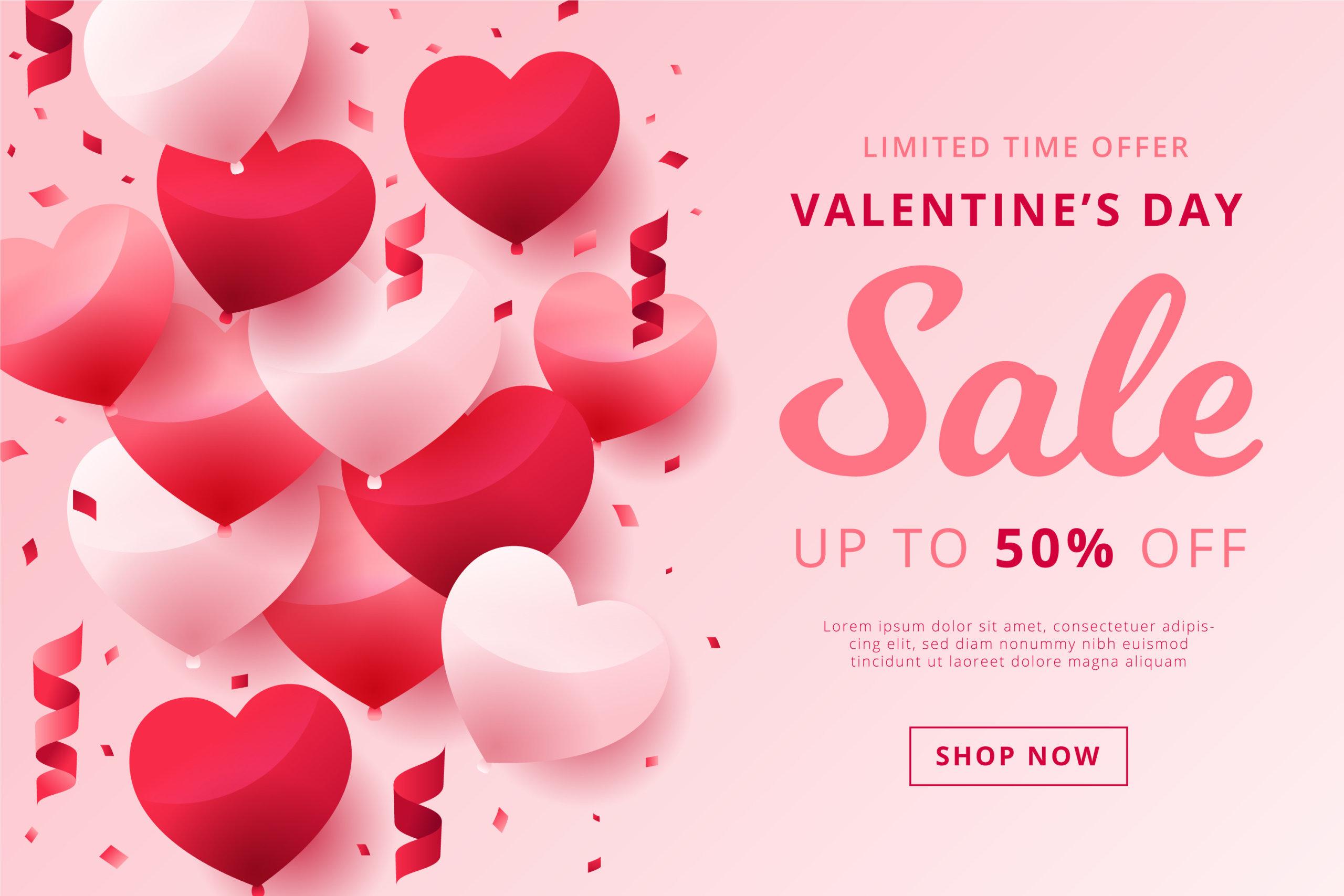 16款七夕节情人节爱心心形公益慈善海报传单AI设计素材 Valentines Day Love Promotion Poster插图2
