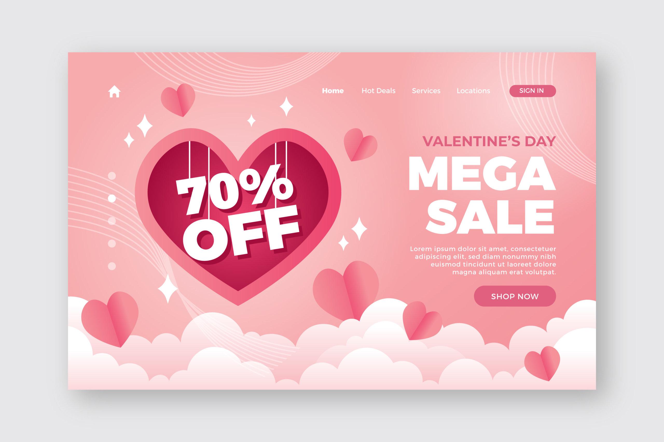 16款七夕节情人节爱心心形公益慈善海报传单AI设计素材 Valentines Day Love Promotion Poster插图4