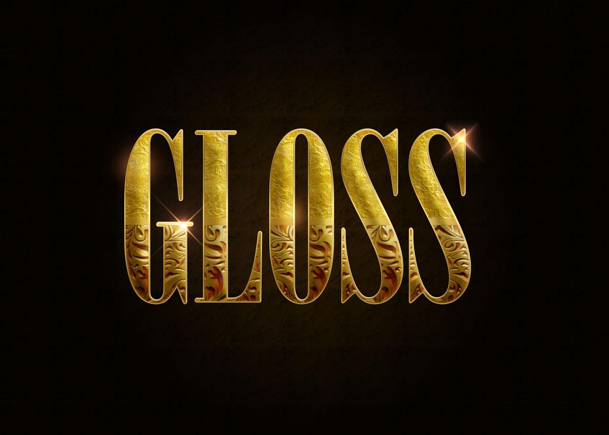 10款金色3D立体标题徽标Logo设计PS样式模板 Golden Decorative Text Styles插图2