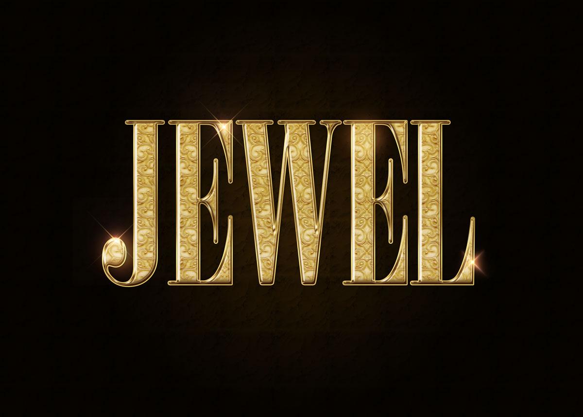 10款金色3D立体标题徽标Logo设计PS样式模板 Golden Decorative Text Styles插图7