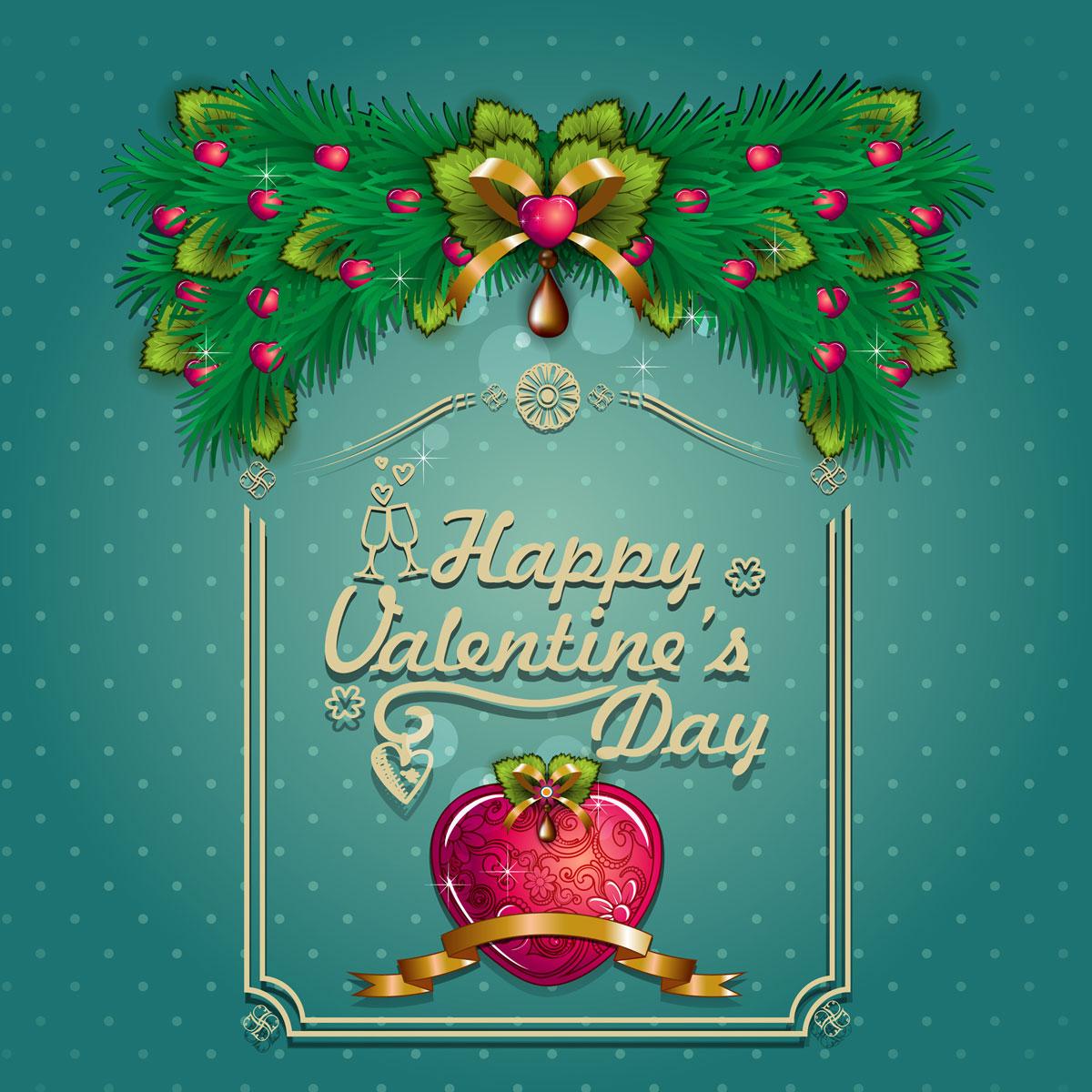 13款情人节七夕节爱心心形宣传海报设计AI矢量素材 Valentines Day Heart-shaped Vector Poster插图
