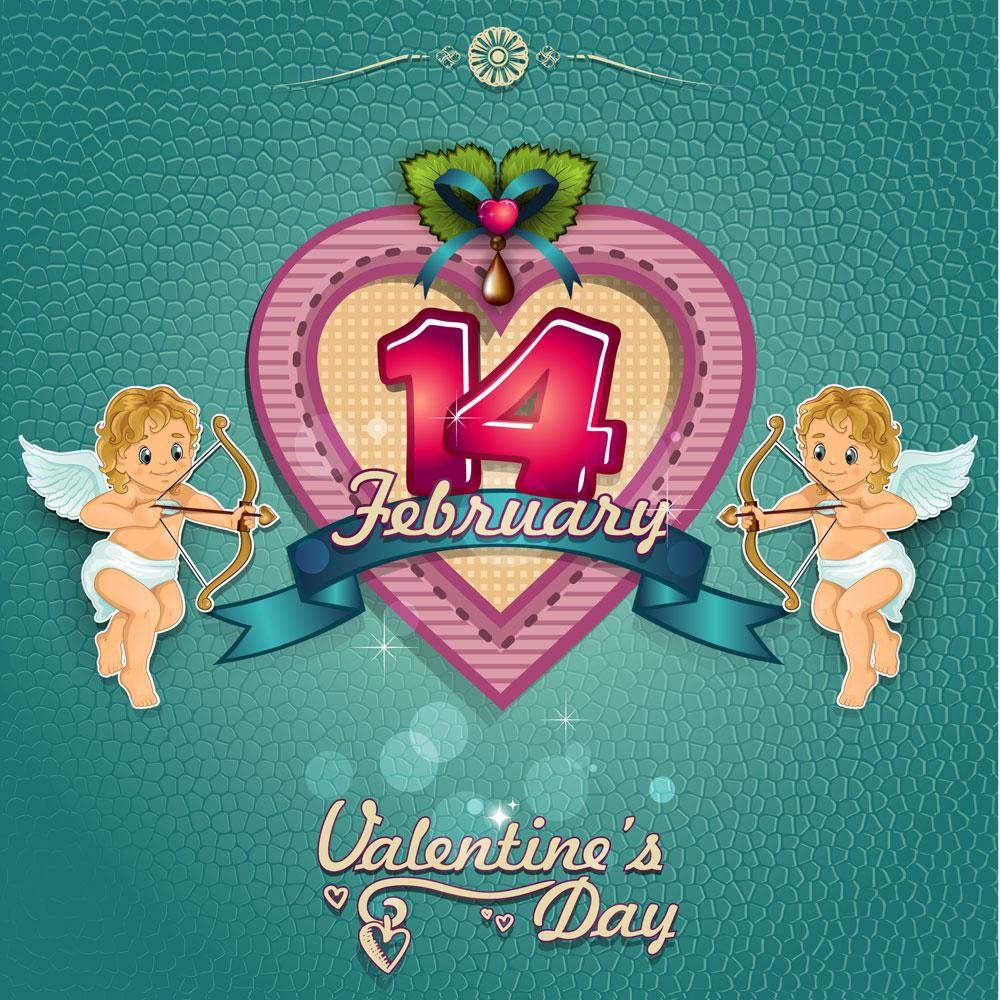13款情人节七夕节爱心心形宣传海报设计AI矢量素材 Valentines Day Heart-shaped Vector Poster插图9