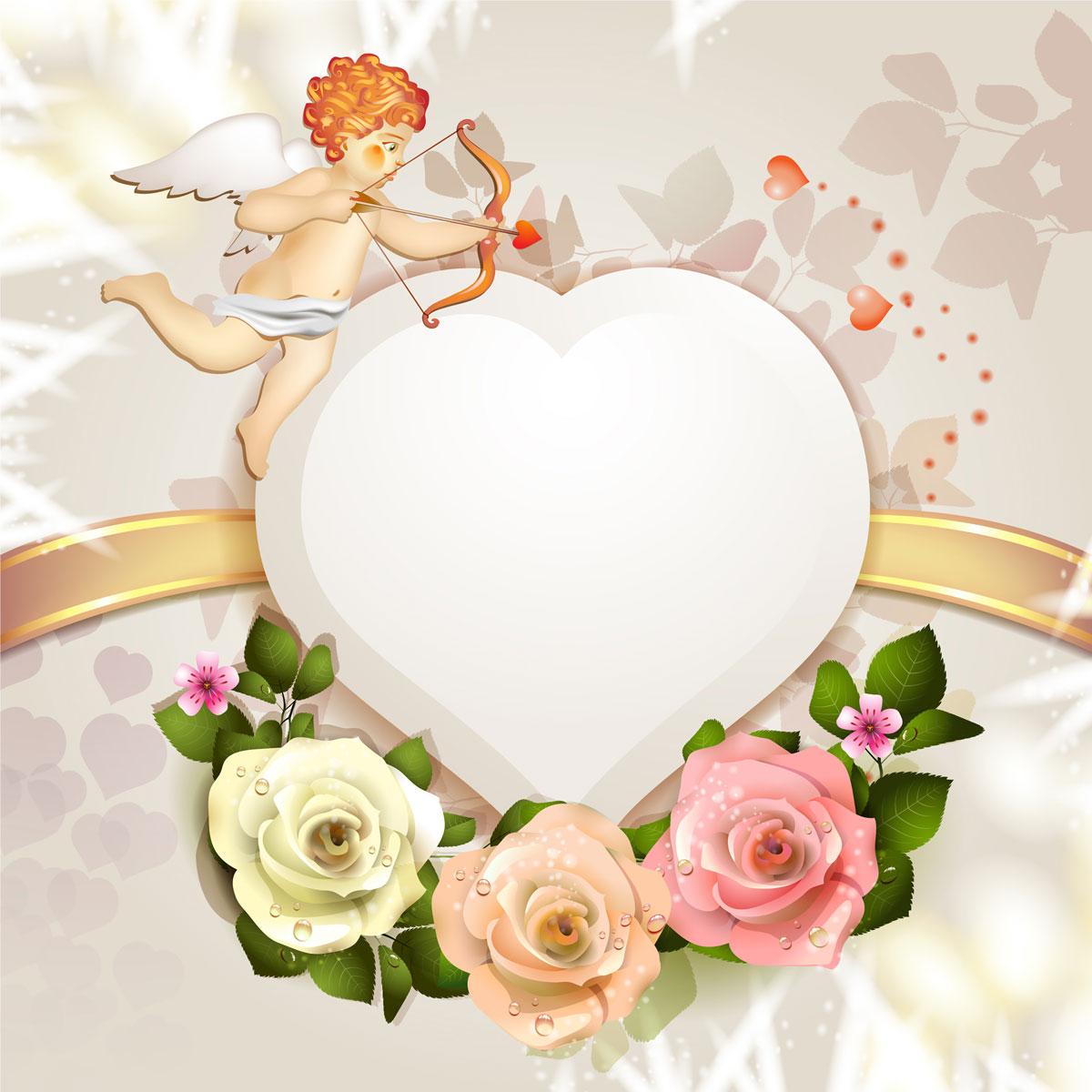 13款情人节七夕节爱心心形宣传海报设计AI矢量素材 Valentines Day Heart-shaped Vector Poster插图1