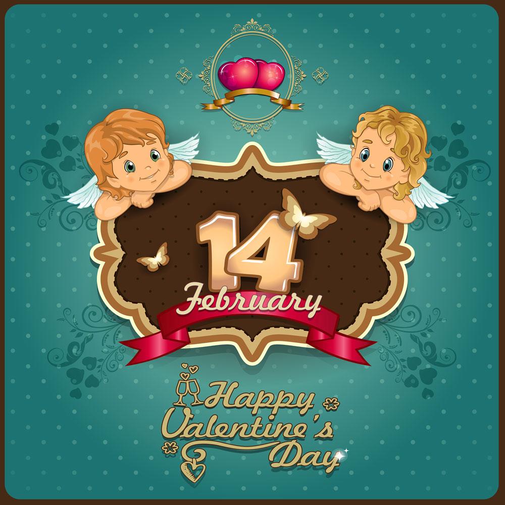 13款情人节七夕节爱心心形宣传海报设计AI矢量素材 Valentines Day Heart-shaped Vector Poster插图3