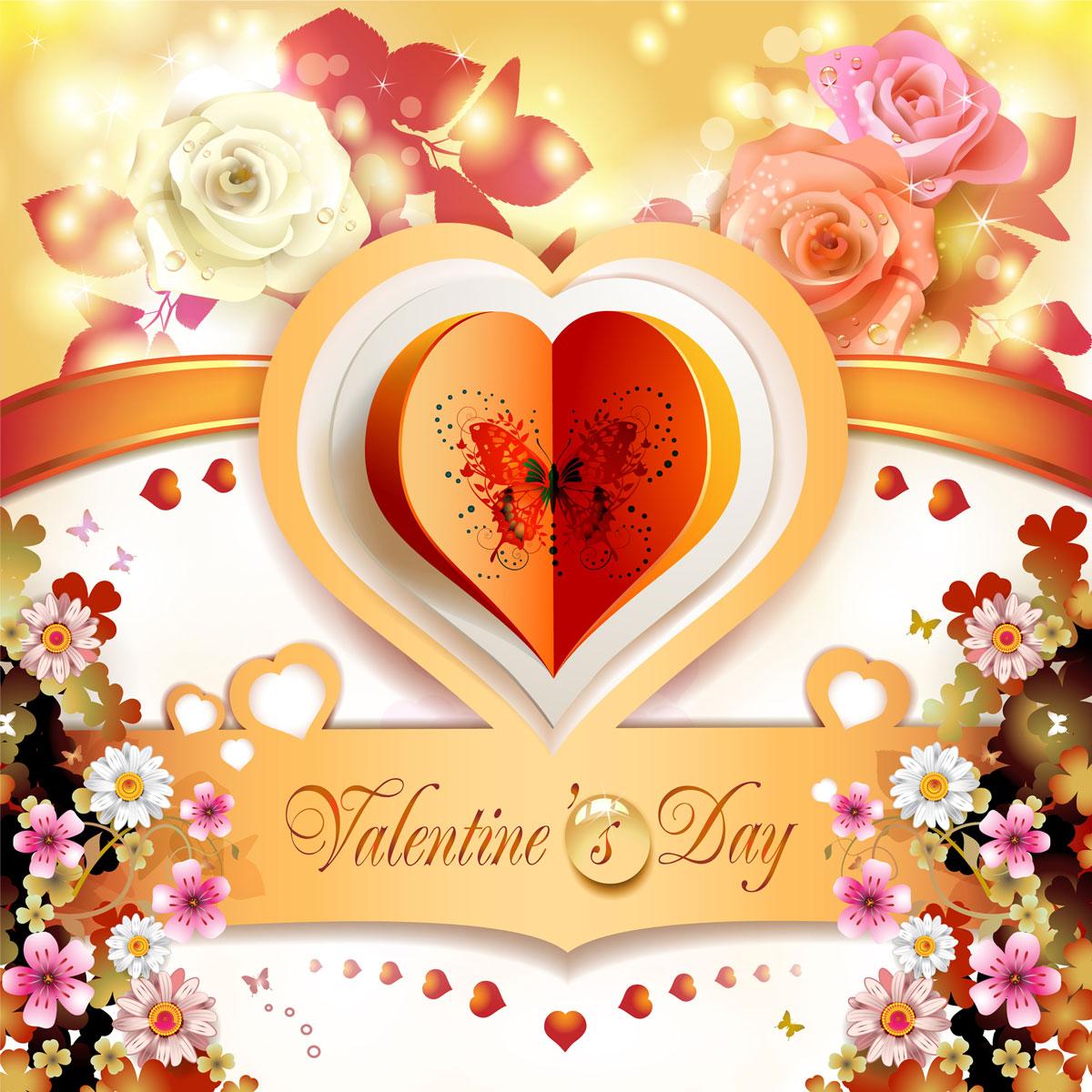 13款情人节七夕节爱心心形宣传海报设计AI矢量素材 Valentines Day Heart-shaped Vector Poster插图5