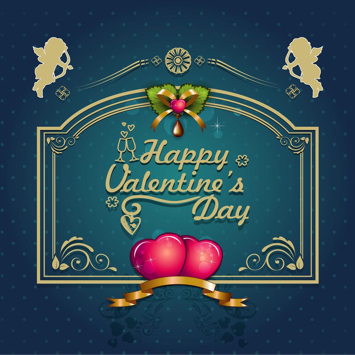 13款情人节七夕节爱心心形宣传海报设计AI矢量素材 Valentines Day Heart-shaped Vector Poster插图6
