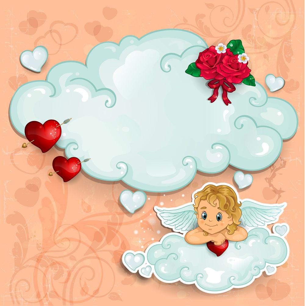 13款情人节七夕节爱心心形宣传海报设计AI矢量素材 Valentines Day Heart-shaped Vector Poster插图8