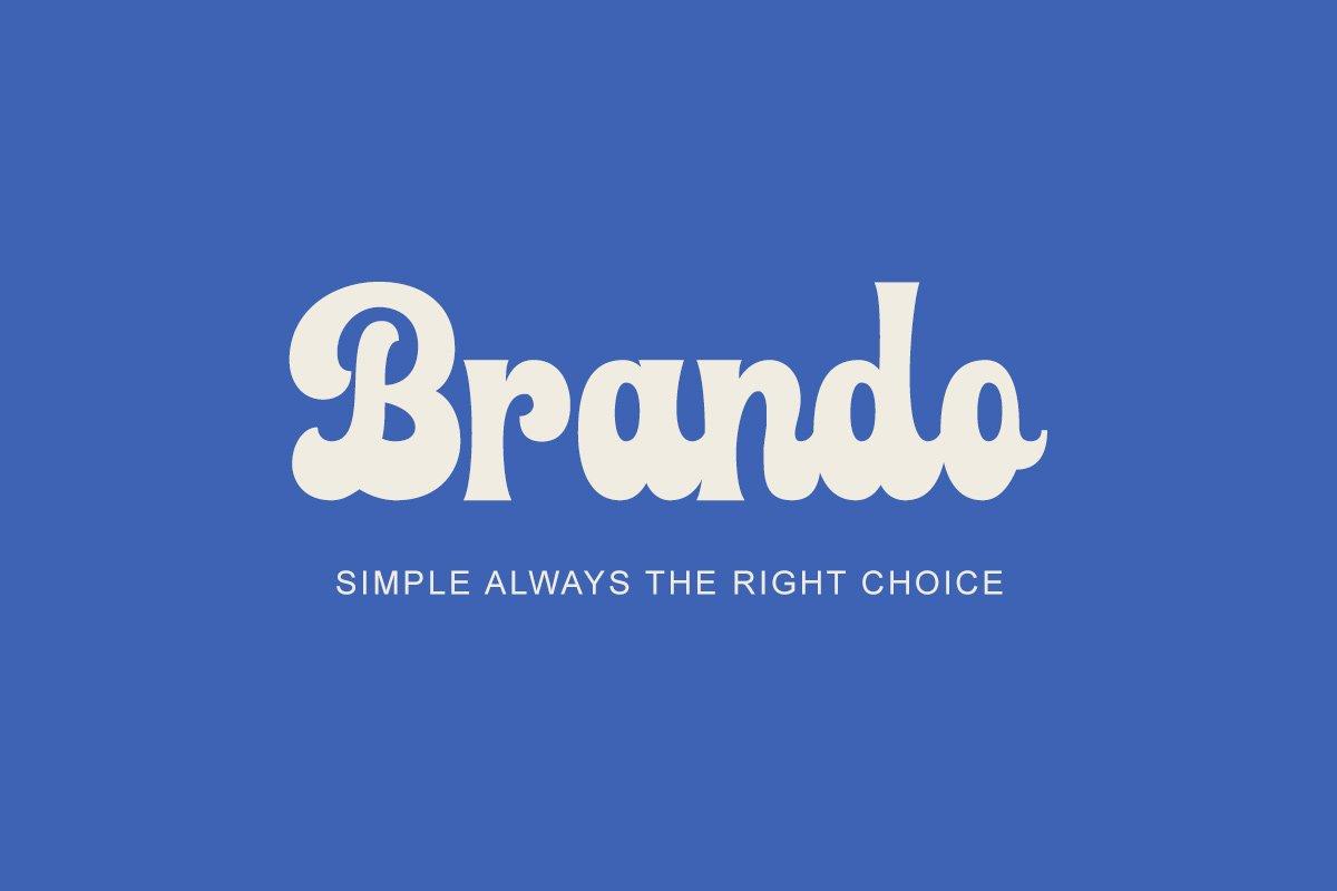 复古品牌标题徽标Logo设计粗体手写英文字体素材 Farland – Bold Script Typeface插图3