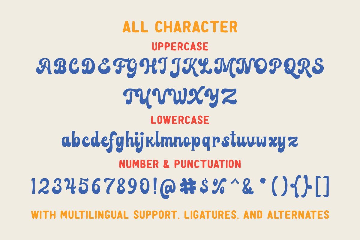 复古品牌标题徽标Logo设计粗体手写英文字体素材 Farland – Bold Script Typeface插图7