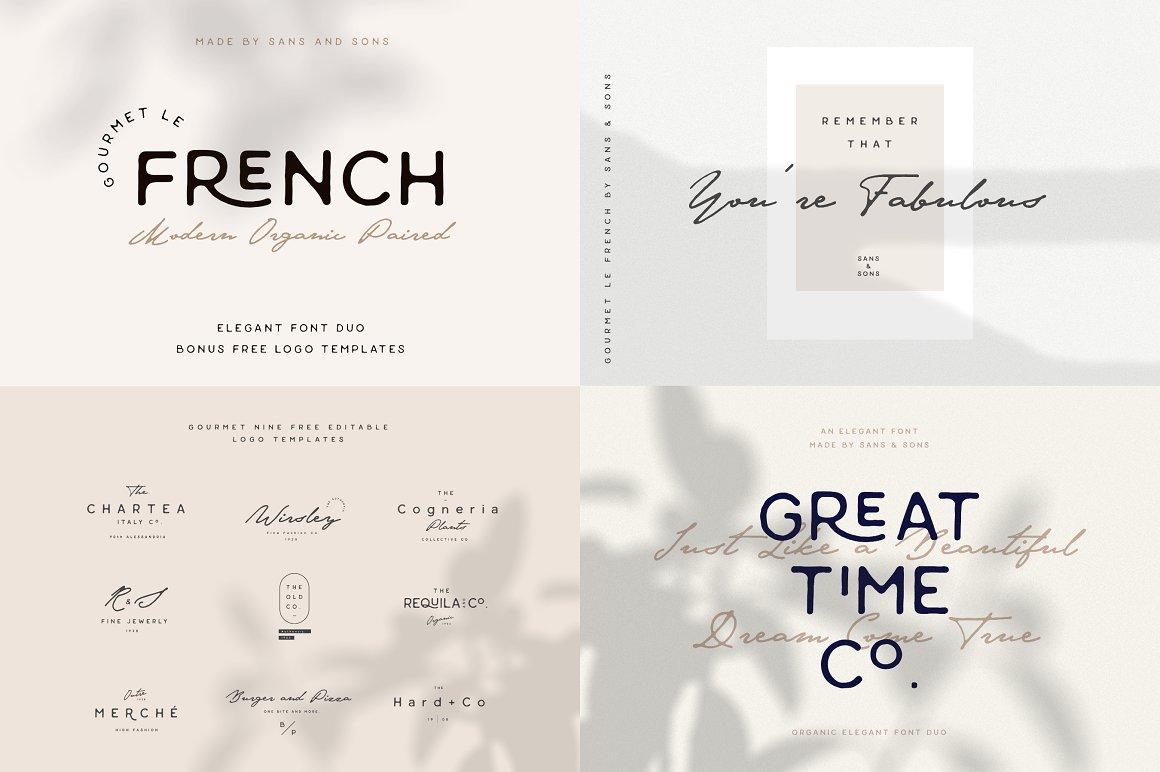 [单独购买] 12套时尚优雅奢华杂志海报标题品牌徽标Logo设计英文字体素材套装 Modern Elegant Font Bundle插图5