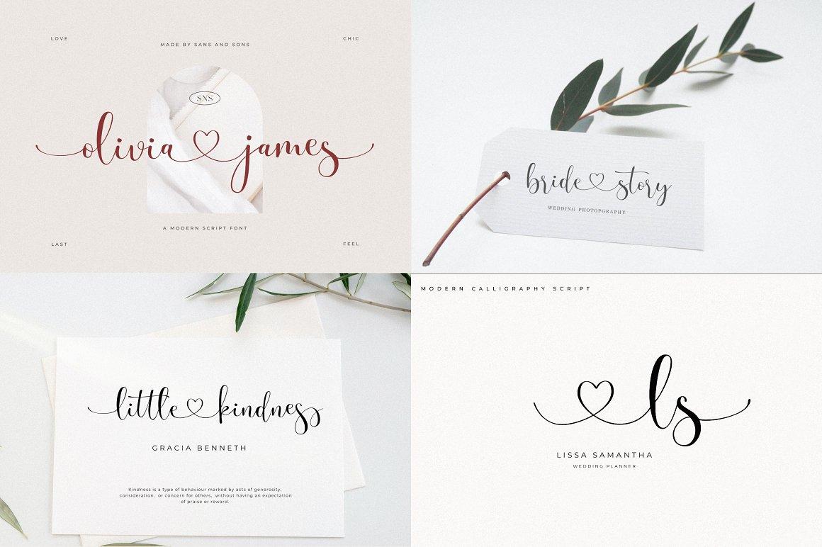 [单独购买] 12套时尚优雅奢华杂志海报标题品牌徽标Logo设计英文字体素材套装 Modern Elegant Font Bundle插图6