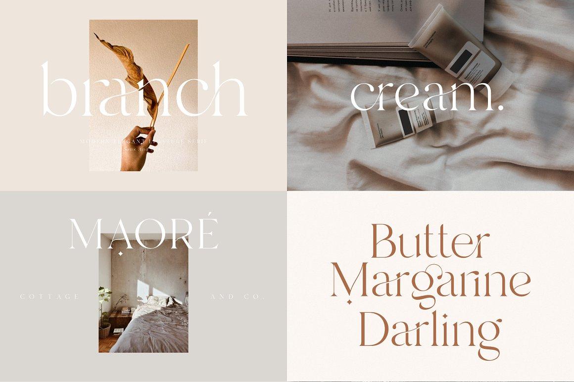 [单独购买] 12套时尚优雅奢华杂志海报标题品牌徽标Logo设计英文字体素材套装 Modern Elegant Font Bundle插图7