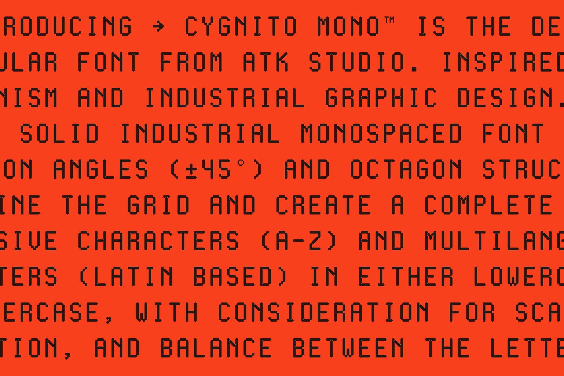 现代简约经典海报杂志等宽无衬线英文字体素材 Cygnito Mono插图10