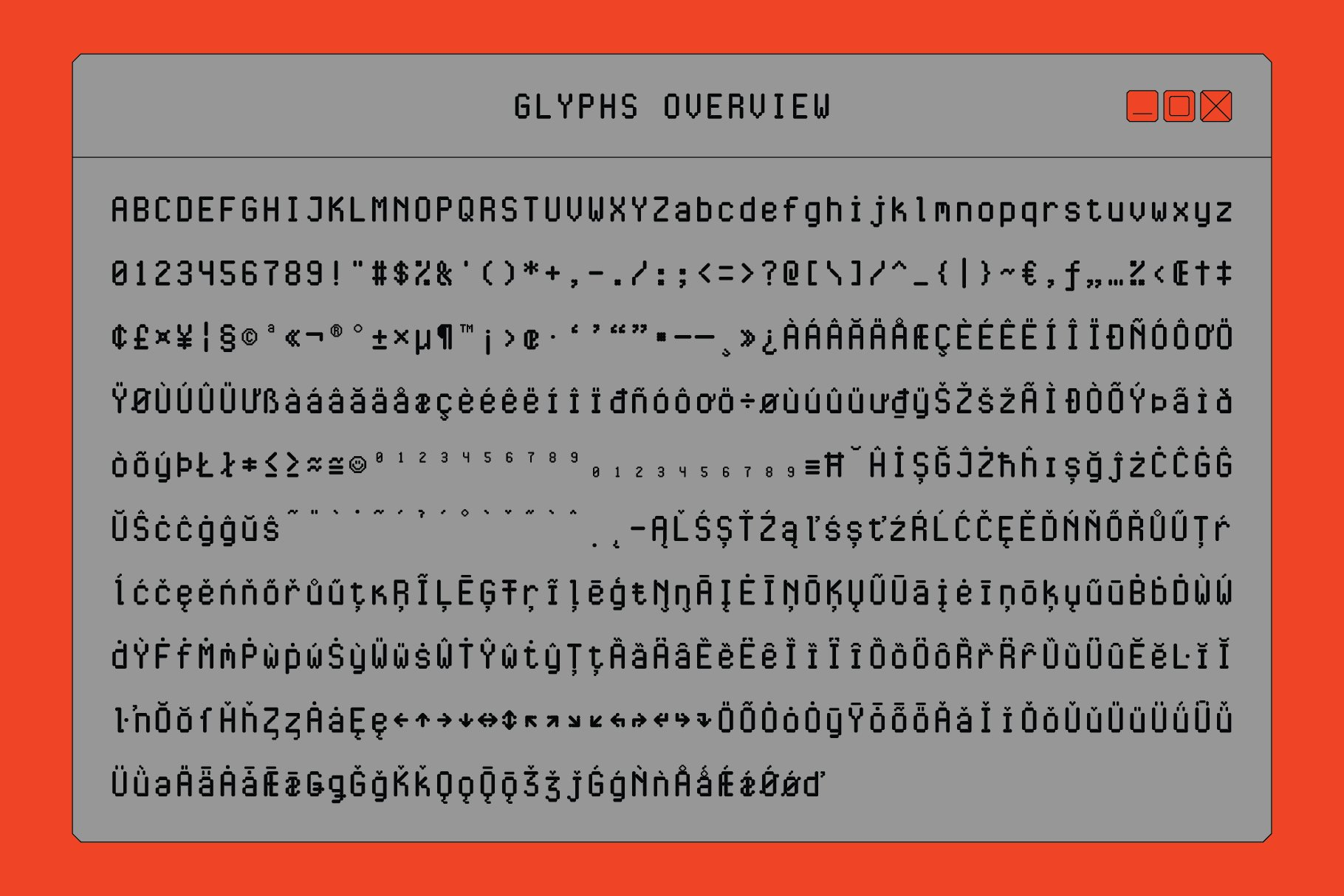 现代简约经典海报杂志等宽无衬线英文字体素材 Cygnito Mono插图4