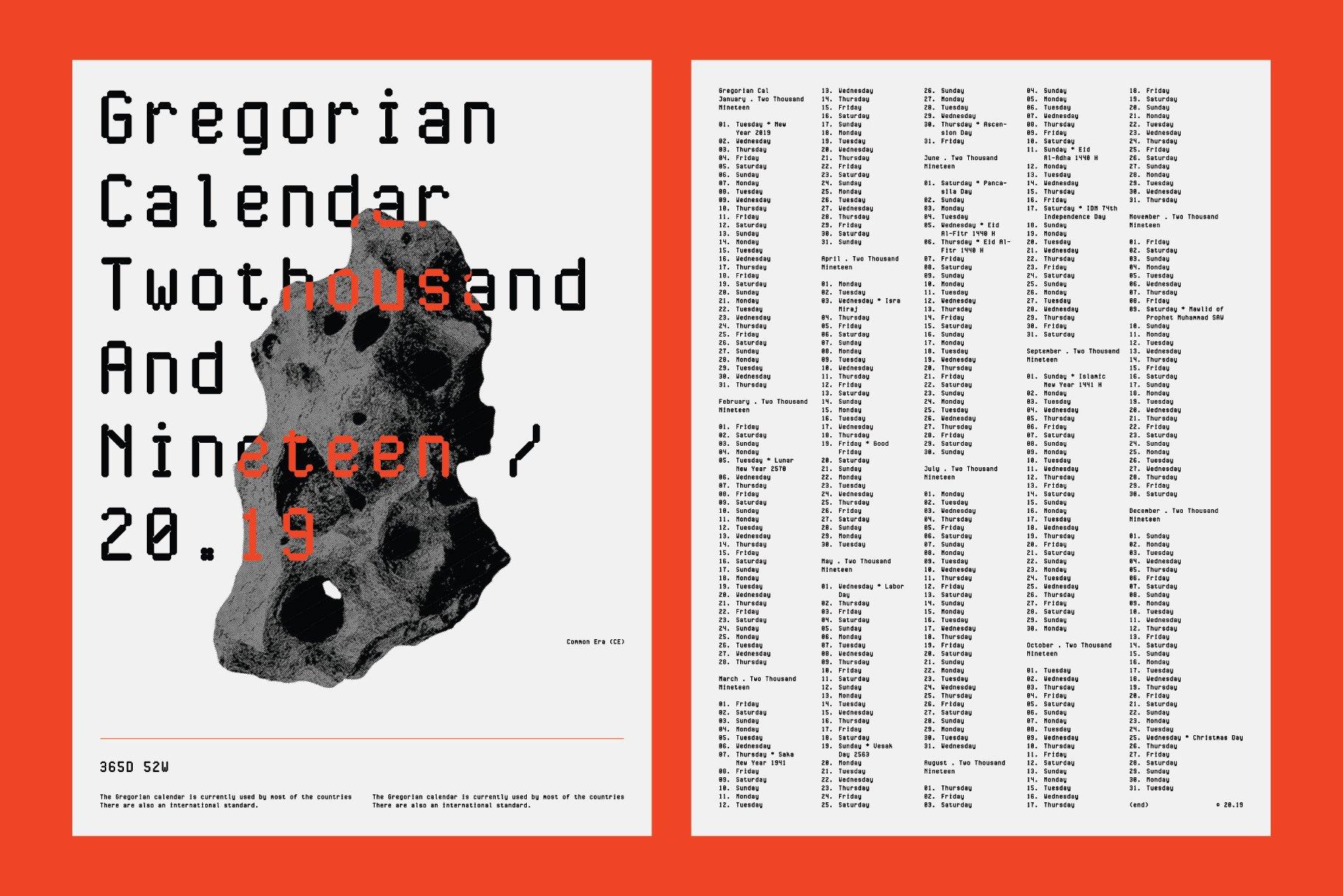 现代简约经典海报杂志等宽无衬线英文字体素材 Cygnito Mono插图7