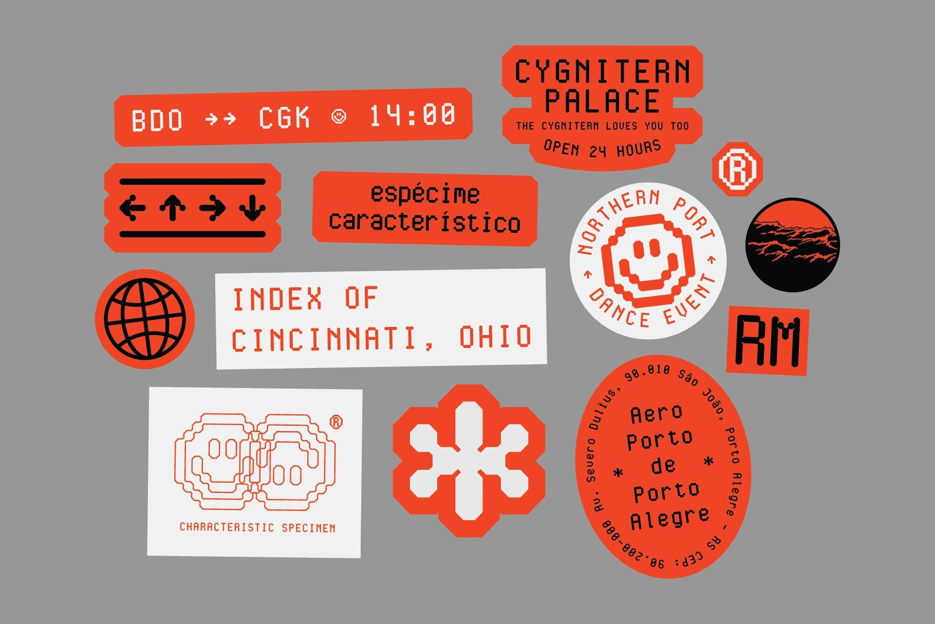 现代简约经典海报杂志等宽无衬线英文字体素材 Cygnito Mono插图8