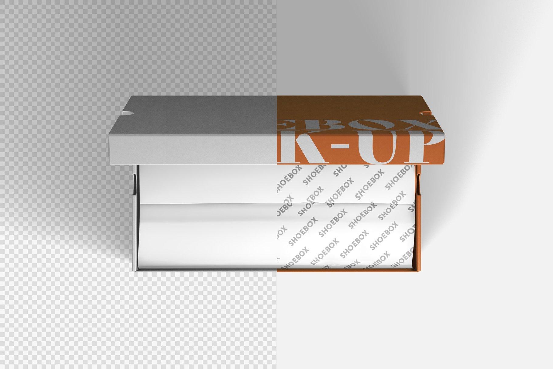 9款鞋盒包装纸盒设计展示样机 Shoe Box Mockup插图10