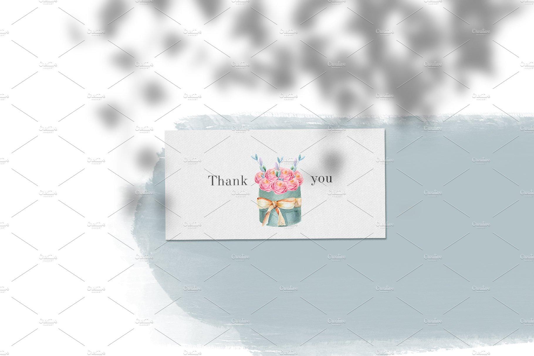 12款无缝隙花卉手绘水彩画图片设计素材合集 Floral Boxes. Seamless Patterns Set插图8