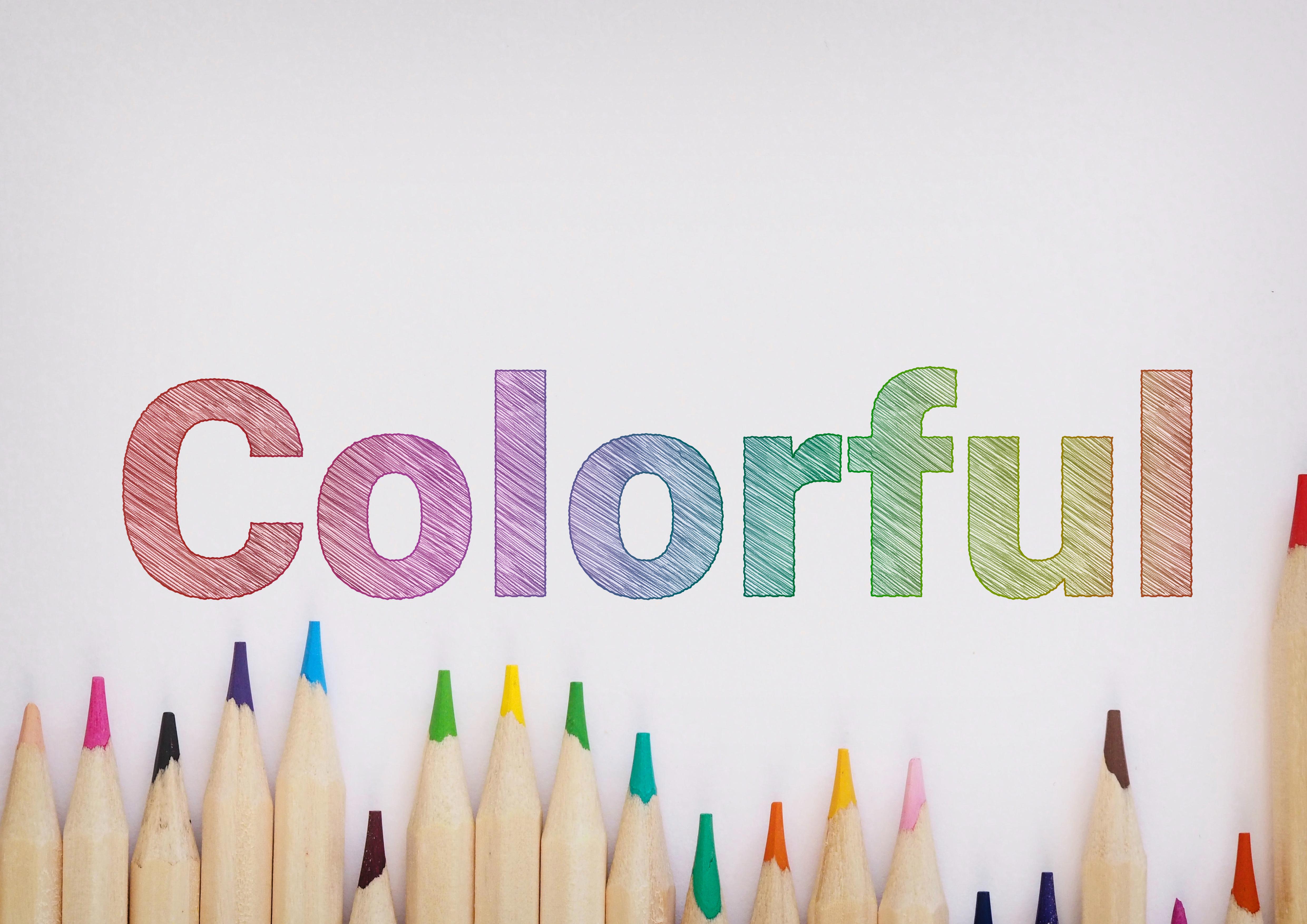 彩色铅笔素描文字效果文本处理滤镜PS样式素材 Colourful Pencil Sketch Text Effect插图1