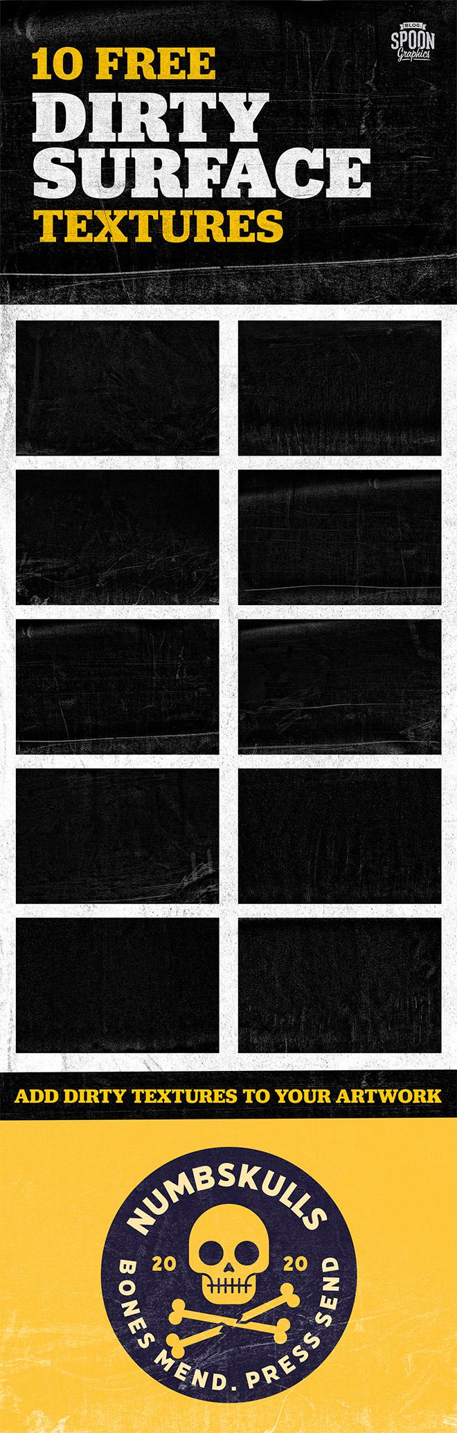 10款高清粗糙划痕颗粒纹理背景图片设计素材 10 Dirty Textures Collection插图