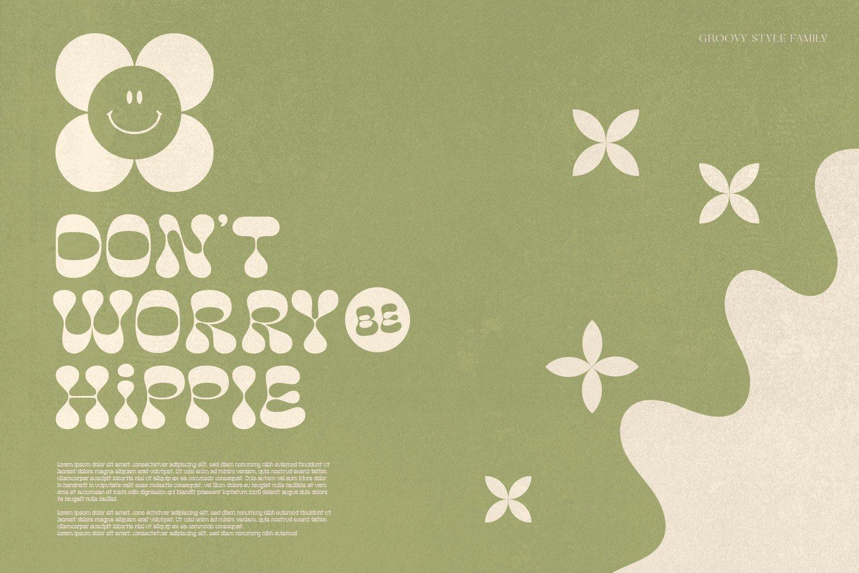 复古卡通幽默趣味品牌海报画册标题英文字体设计素材 Popstone – Groovy Variable Font插图2