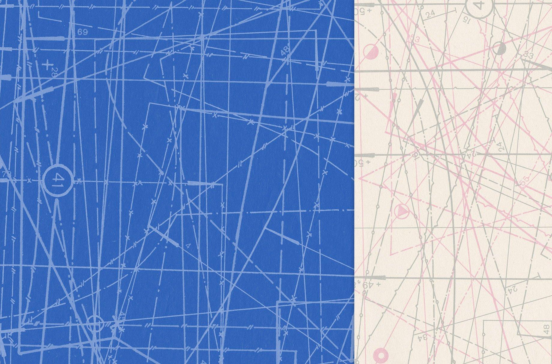 [单独购买] 60款潮流做旧粗糙图纸纹理海报设计背景底纹图片素材 Fabric Blueprint Textures插图3