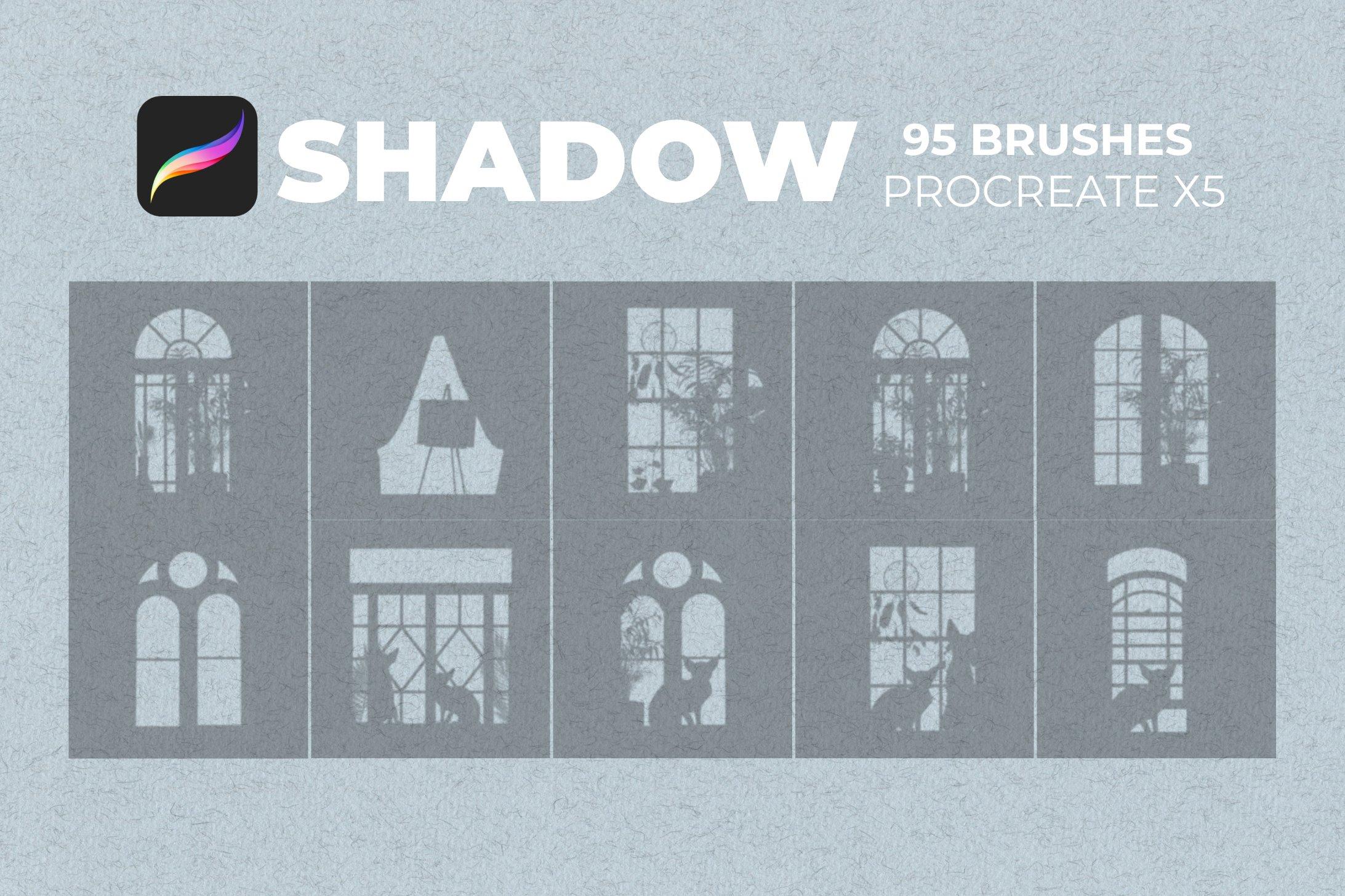 95款室内物品窗户自然阴影Precreate印章笔刷素材 95 Shadows For Precreate Brushes插图3