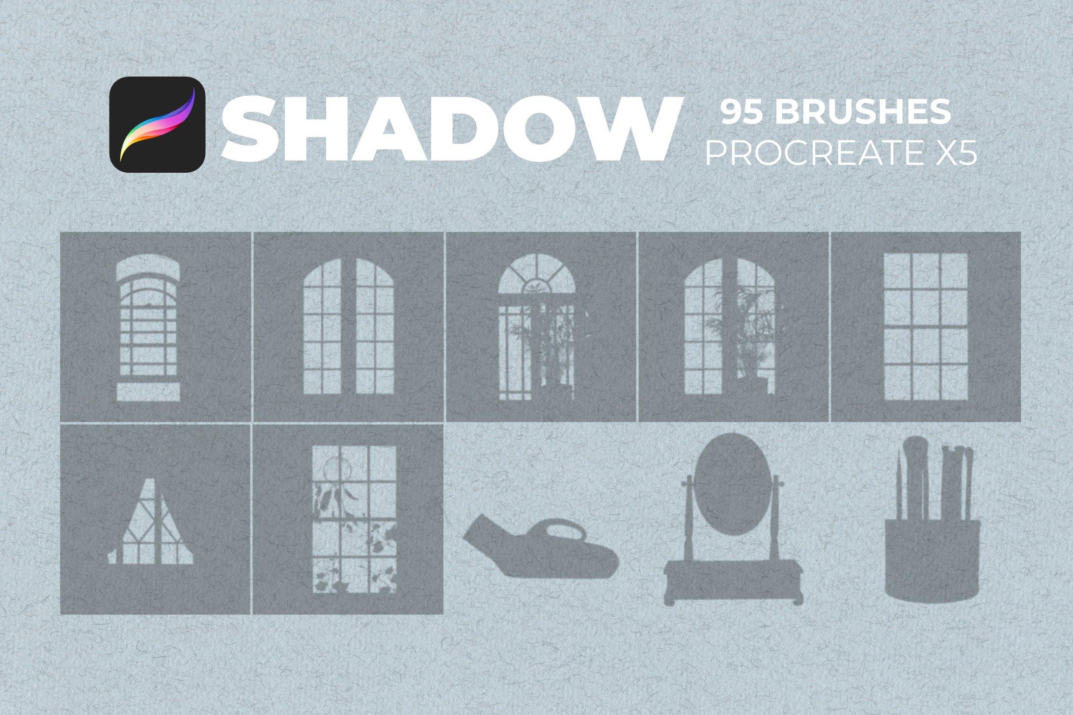 95款室内物品窗户自然阴影Precreate印章笔刷素材 95 Shadows For Precreate Brushes插图5